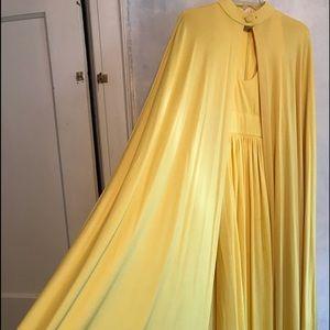 Vintage Goddess Gown w/Cape, Unworn w/tag. 1970's